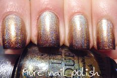 Golden brown holo gradient