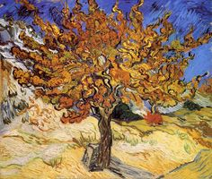 Mulberry Tree - Vincent van Gogh - Painted in Oct 1889 while in the Saint-Rémy Asylum - Current location: Norton Simon Collection, Pasadena, USA ................#GT