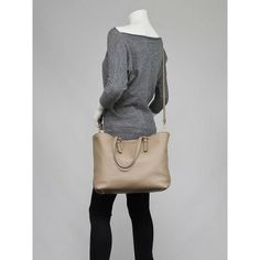 Miu Miu Visone Vitello Daino Leather Shopper Tote Bag RR1905