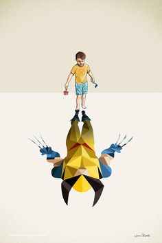 Children's Superheroes Shadows Posters – Fubiz Media