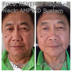 In just 2 weeks of using R+F Reverse Regimen on his face and the AMP MD System on his neck this happy gentleman's skin is visibly more smooth, even-toned and firm... Notice the difference?! Let's get you started!!!  http://iarman.myrandf.com