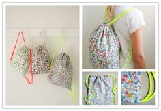 How to sew DIY drawstring backpack | DIY Tag