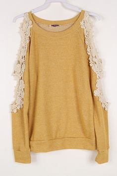 Peek A Boo French Terry Sweater Top (4 colors available) from Gypsy Outfitters - Boho Luxe Boutique