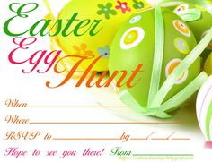 8 best images about Free Easter Egg Hunt invitations on Pinterest