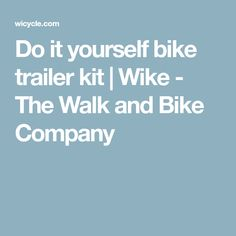 Thule chariot cadence 2 with bicycle trailer kit trailer kits and do it yourself bike trailer kit wike the walk and bike company solutioingenieria Image collections