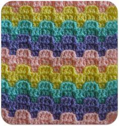 Victorian Step- Bargello Crochet Row Designs