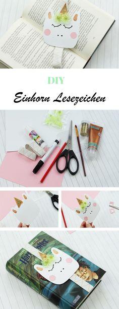 DIY Einhorn Lesezeichen selber machen - Geschenk