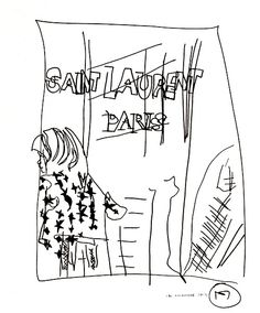 belle BRUT sketchbook: #saintlaurent #fashion #style #illustration #blindcontour  © belle BRUT 2014 http://bellebrut.tumblr.com/post/93655150925/belle-brut-sketchbook-saintlaurent-fashion