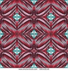 Embroidery colorful pattern with geometric ornament. embroidery vector pattern