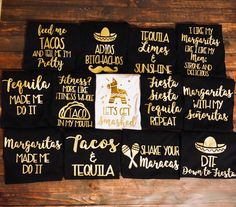 Fiesta bachelorette party tanks / id hit that / adios bitchachos / tacos and tequila/ bachelorette party favors / fast shipping by TheBridesLastBash on Etsy