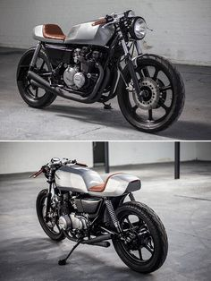The Auto Fabrica Type One: a stunning Kawasaki GT550 custom. See more customs like this on the Bike EXIF Facebook page: https://www.facebook.com/BikeEXIF