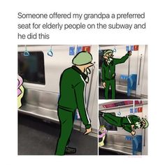 Someone offered my grandpa a preferred seat for elderly people on the subway and he did this - iFunny :) Splatoon Squid, Splatoon Memes, Splatoon 2 Art, Splatoon Comics, Pokemon, Funny Games, Funny Relatable Memes, Funny Comics, Best Games