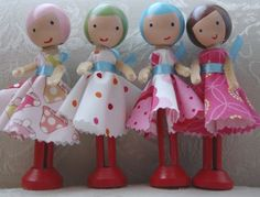 Clothespin Doll Tutorial *I made clothespin dolls for a few little girls for Christmas and they were adorable! My girls want some too, I just haven't had the time to make any more!