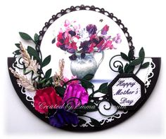 Sweet pea Rocker card, mother's day card, LOTV image, sizzix susans garden sweet pea paper flowers
