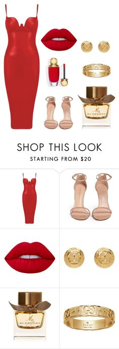 3 ♡ by ladyloveandrain on Polyvore featuring Stuart Weitzman, Versace, Gucci, Lime Crime and Burberry