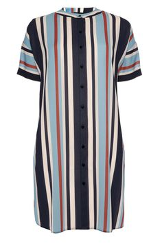 Multi Stripe Shirt Dress, £13