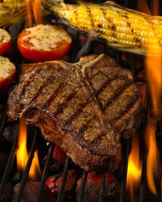 Crank Up the BBQ–Grilled Ribeye Steak | recipe from Sweet Paprika