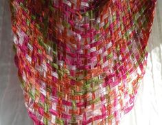 Handwoven scarf Strawberries hand woven by LifesAnExpedition, $32.00
