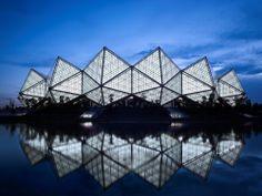Projeto de iluminação: Universiade Sports Center por Conceptlicht Lighting Design