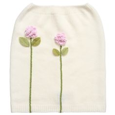 Girls Ivory Cashmere Snood Scarf with Flowers, RoRo, Girl