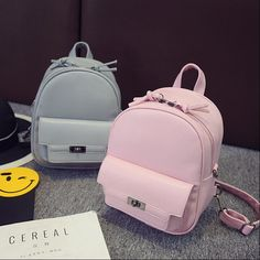 16.80$  Buy now - http://alixo2.shopchina.info/go.php?t=32719376227 - COOL WALKER Women Backpack For Teens Girls Preppy Style Solid fashion Girls School Bags for Girls PU Leather Women Backpack  16.80$ #aliexpressideas