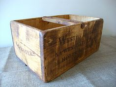 Vintage Chic Antiqued Wooden Storage Boxes Crates Trugs Rustic Kitchen 2 Sizes | eBay