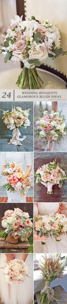 24 Glamorous Blush Wedding Bouquets That Inspire ❤ Magnificent blush wedding bouquets offer you a beautiful variety of choices, inspiration and excitement we live for. See more: http://www.weddingforward.com/blush-wedding-bouquets/ #weddings #bouquets