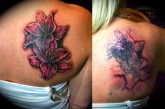 ... Best Tattoos : Tattoos : Black and Gray : Stargazer Lilies cover
