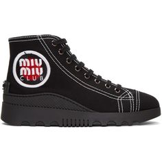 Miu Miu Tronc Gabardine Hi Top Sneakers Fake Online Clearance Supply Clearance Store Sale Online Nicekicks With Credit Card Cheap Online jJ3jb4A