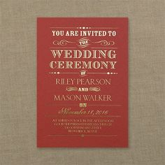 Announcing - Shimmer Invitation - Claret. Available at Persnickety Invitation Studio.