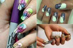 15 Sharpie Nail Art Designs You'll Surely Love