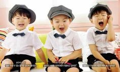 Happy Triplets Cute Kids, Cute Babies, Song Il Gook, Superman Kids, Song Triplets, Korean Shows, Asian Kids, Kids Toys, Twins