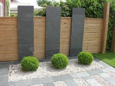 Agreeable contemporary garden fence design splendid wood beams on Modern Landscape Design, Modern Garden Design, Garden Landscape Design, Modern Landscaping, Garden Landscaping, Landscape Edging, House Landscape, Landscaping Ideas, Modern Design