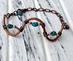 Serpentine II Bracelet in Turquoise  Hand by TheBlueYonderStudio, $69.00