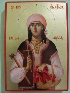 Sf. Mc. Filoteia de la Curtea de Arges Byzantine Icons, Orthodox Christianity, Religious Icons, Orthodox Icons, Sacred Art, Fresco, Jesus Christ, Saints, Spirituality