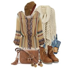 """A Little Winter Boho"" by leegal57 on Polyvore"