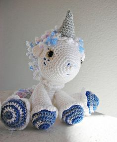"little magic unicorn by lella ✿ڰۣ— -   from Dawn Toussaint's ""Hermione"" free pattern http://www.ravelry.com/patterns/library/hermione-the-unicorn"