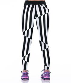 Illusion Stripes Sport Leggings