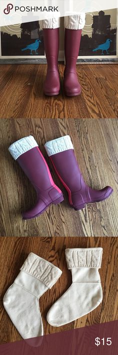 L. L. Bean Wellie Welly Boot Warmers Boot Socks L. L. Bean Wellie Welly Boot Warmers Boot Socks. Fit L. L. Bean boots or similar, too short for the tall style hunter boots unless you don't mind that the cuff doesn't show. Good condition, rarely used. Stay warm this winter! L.L. Bean Accessories Hosiery & Socks