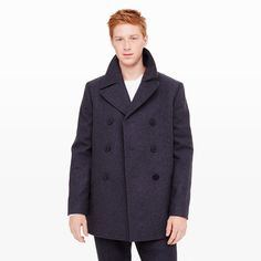 CLUB MONACO Wool Pea Coat. #clubmonaco #cloth #all