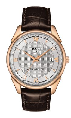 The @tissot Vintage automatic (in rose gold) contains the Powermatic 80 movement; this in-house caliber is so named for its 80-hour power reserve – which is all the more impressive in an affordable Swiss automatic. #tissot #watchtime #baselworld2015
