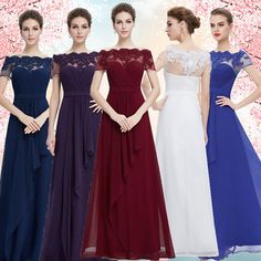 Women's Elegant Long Bridesmaid Dresses Formal Evening Party Prom Gown 08490