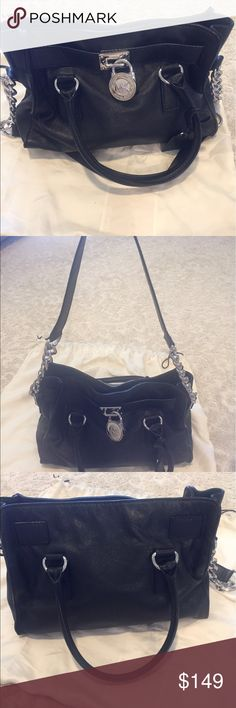 Michael Kors Handbag Michael Kors black leather handbag Michael Kors Bags Shoulder Bags