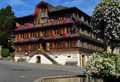 The Hotel Gasthof Hirschen is located in Schwarzenberg, a village in Vorarlberg's Bregenzerwald. Once a humble village inn, the hotel is now a 4 star accommodation accompanied Design Hotel, Hotel Berg, Places To Travel, Places To Go, Village Inn, Wooden Architecture, Beste Hotels, 4 Star Hotels, Austria