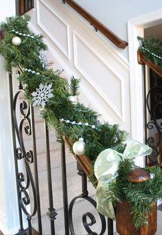 Christmas garland using dollar store crafts