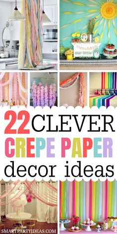 Elevate any space into a perfect party venu with these gorgeous DIY Crepe Paper Decor Ideas. These easy to make crepe paper decorations make the perfect addition to any birthday party theme. Streamers are a budget friendly way to create elegant and fun party decor whether it be a crepe paper backdrop crepe paper birthday arragement or crepe paper focal point. #crepepaper #crepepaperdecorations #crepepapergarland #crepepaperbackdrop #howtohangstreamers #streamersdecorideas #streamersDIY