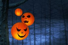 Make your own Halloween scary lantern using paper lanterns and cut-out scary faces. Paste your scary faces on your paper lantern to easily get this look
