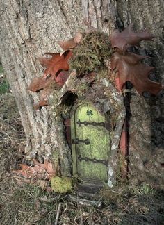FAIRY DOOR with four leaf clover perfect for by CindiBee on Etsy, $40.00