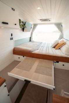 Van Conversion Interior, Camper Van Conversion Diy, Campervan Conversions Layout, Bus Living, Tiny House Living, Van Conversion Australia, Combi Wv, Diy Van Conversions, Converted Vans