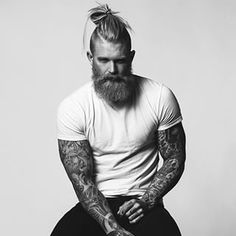 Beard and hairbun look men — Mens Fashion Blog - The Unstitchd